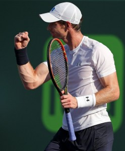 Andy Murray now with 501 wins on the ATP Tour (photo: Miami Open)