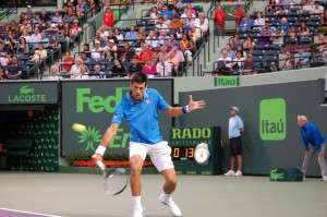Novak Djokovic was succesful in Thursday's night session (photo: Miami Open)