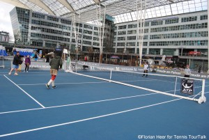 Great venue for playing tennis - the airport in Munich