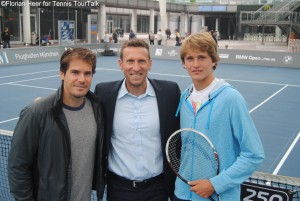 Tommy Haas and Alexander Zverev were both at the Airport in Munich last year