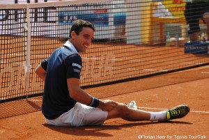 Roberto Bautista-Agut was only down once during today's match, when he was hit by a ball