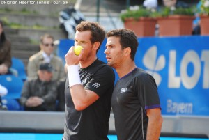 Andy Murray and Jean-Julien Rojer made it to the doubles quarterfinals