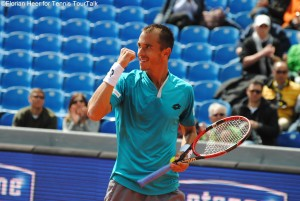 Lukas Rosol celebrated a pretty comfortable victory today