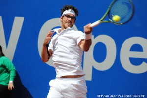 Gerald Melzer has reached his first quarterfinal on the ATP World Tour