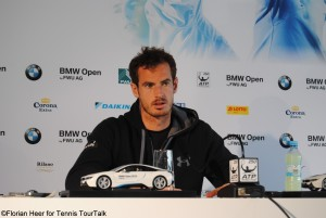 Andy Murray during his post match conference