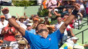 Novak Djokovic converted his first match point to take the title