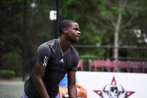 Francis Tiafoe celbrated his first match win on ATP Challenger Level (photo: instudioEphoto)