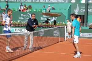 Martin Klizan and Damir Dzumhur met for the first time on the tour (photo: GP Hassan II)