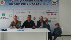 Main draw ceremony on Saturday with ATP Supervisor Carlos Sanches (middle) and tournament director Khalid Outaleb