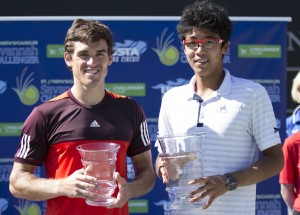 Hyeon Chung claimed his second ATP Challenger title and James McGee lost his second final (photo: Jacob Stuckey - SJ/C Savannah Challenger)