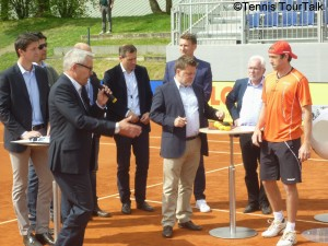 Main draw ceremony with Referee Norbert Peick ,ATP supervisor Cedric Mourier and German player Benjamin Becker