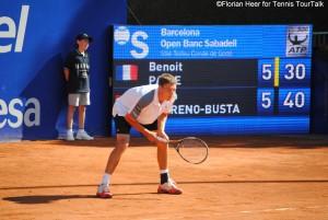 Pablo Carreno-Busta in his first ATP World Tour main draw match in Barcelona 2011