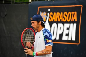 Third seed Paolo Lorenzi lost in the opening round in Sarasota