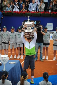 Rafael Nadal lifted the trophy in 2011