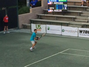 Top-seed Tim Smyczek defeated wild card Stefan Kozlov 6-4, 6-1 (photo: twitter Savannah Challenger)