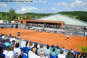 Centre Courr was almost fully packed during the singles final