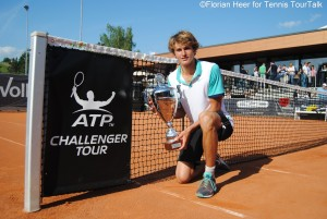 Alexander Zverev lifted his second Challenger trophy this year in Heilbronn