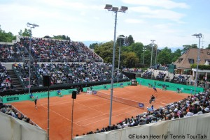 Centre Court in Geneva was sold out on Saturday