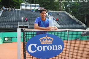 Thomaz Bellucci lifted his third trophy in Switzerland following two titles in Gstaad
