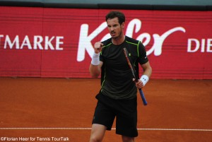 Andy Murray celebrated reaching his first ATP clay court final