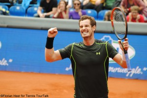 Andy Murray after converting his second match point