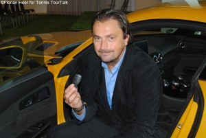 Henri Leconte wanted to keep the car keys, but those are for the winner of the Mercedes Cup 2015