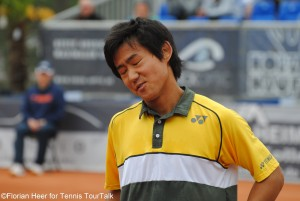 Difficult day for Yoshihito Nishioka