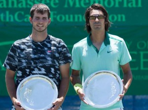 Dennis Novikov and Julio Peralta - doubles Champions in Tallahassee (photo: Tallahassee Challenger)