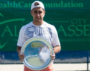 Third ATP Challenger trophy for Facundo Arguello winning in Tallahassee (photo: Tallahassee Challenger)