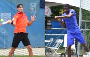 Frances Tiafoe (right) defeated Emilio Gomez winning 6-1, 7-6 in 67 minutes (photo: Tallahassee Challenger)