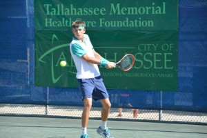 Jared Donaldson advanced to the semi-finals winning 6-4, 7-6 over Vincent Millot in one hour and 38 minutes (photo: Tallahassee Challenger)