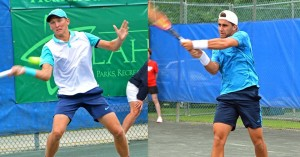 Facundo Arguello (right) rallied back from a set down to defeat Mitchell Krueger 4-6, 6-3, 6-4 in two hours and 20 minutes (photo: Tallahassee Challenger)