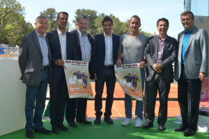 Tournament director Arnaud Clement presenting the second edition of Open du Pays d'Aix