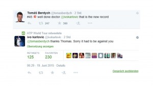 Berdych/Karlovic conversation via twitter after the match