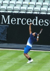 Tommy Haas at practice at the TC Weissenhof (photo: Mercedes Cup)