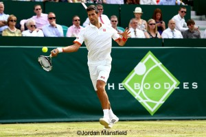 Novak Djokovic won his first match on grass this season