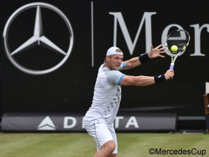 Sam Groth advanced to the quarterfinals of the Mercedes Cup