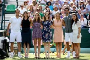 Team GB Women's Hockey Team with Djokovic and Gasquet