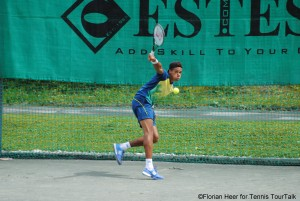 Lenny Hampel appeared in his first ITF semi-finals