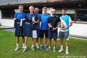 The doubles finalists in Seefeld