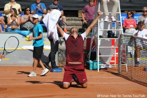 Filip Krajinovic after converting match point