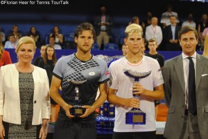 Thiem defeated Sousa for the third time on the tour lifting his second ATP trophy