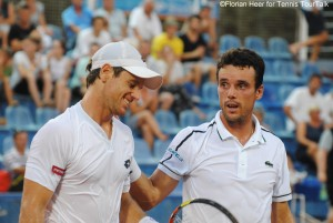 Blaz Kavcic seemed to apologize for his Performance at the handshake with Roberto Bautista-Agut