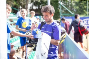 Pere Riba also reached the doubles quarterfinals along with Inigo Cervantes (photo: Poznan Open)