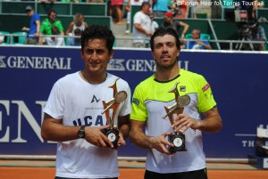 Nicolas Almagro and Carlos Berlocq claimed their first team title