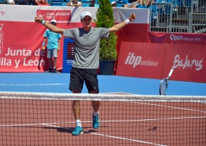 Evgeny Donskoy after converting match point