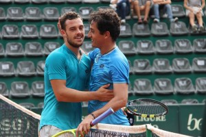 Almgro and Cecchinato after the match point
