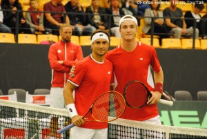 David Ferrer and Mikael Torpegaard