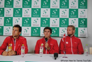 Nielsen and Kroman together with Danish captain Kenneth Carlsen