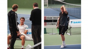 Edoardo Eremin was forced to retire, playing only three games with Robin Kern (left)